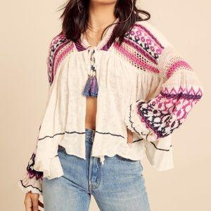 Free People Dreamland Knit Cardigan Sweater